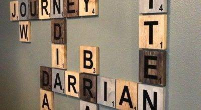 Ideas Scrabble Names Wall Art