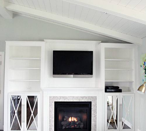 Iheart Organizing Diy Fireplace Built Tutorial