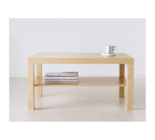 Ikea Coffee Table End Stand Lack Birch Wood Living Room