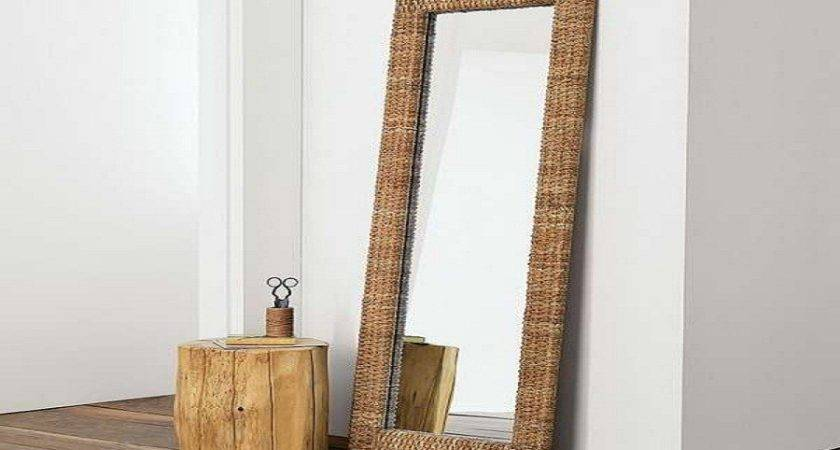 Ikea Floor Mirrors Unique Wood Table Leaning