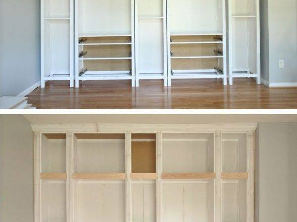 Ikea Hack Diy Built Bookcase Hemnes Furniture