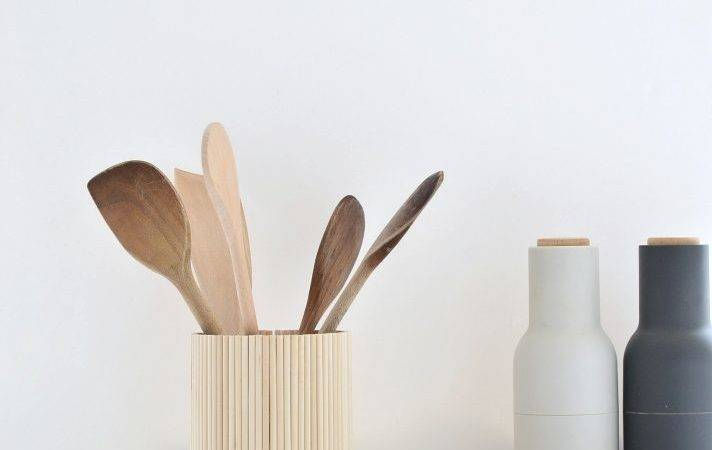 Ikea Hack Diy Wooden Utensil Holder Under Tenner