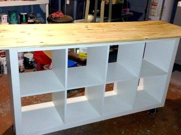 Ikea Hack Diy Work Table Using Expedit Bookcase