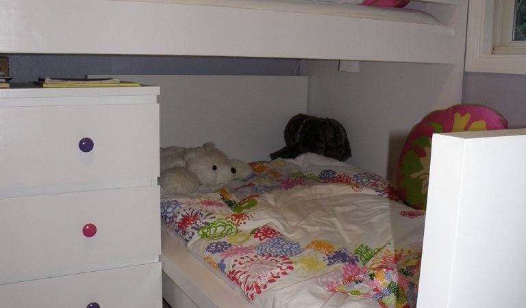 Ikea Hackers Malm Toddler Bed Under Malminspired Bunk