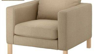 Ikea Karlstad Armchair Slipcover Chair Cover Lindo Beige Lind