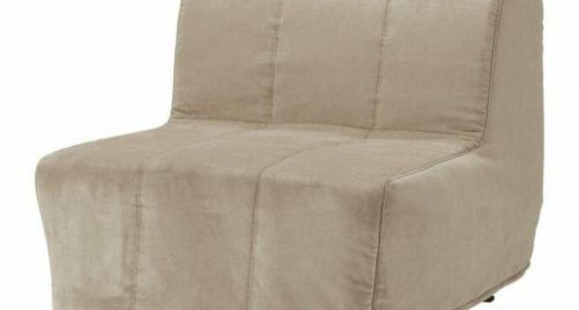 Ikea Lycksele Chair Bed Slipcover Cover Henan Beige Quilted