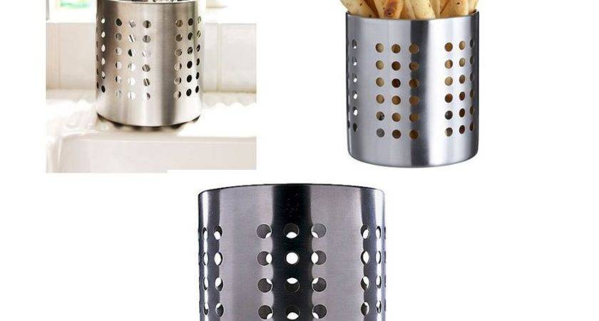Ikea Ordning Cuterly Caddy Stainless Steel Utensil Holder