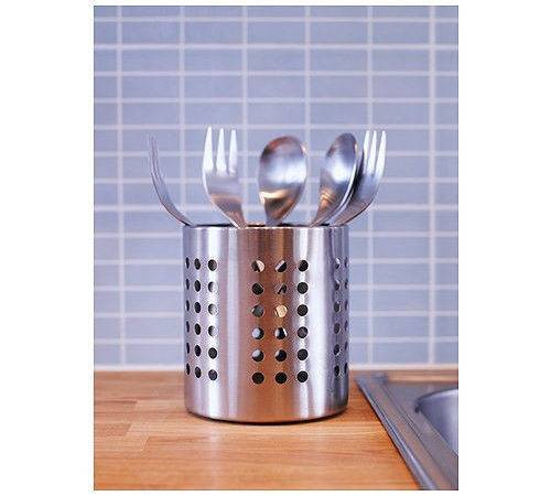 Ikea Ordning Cutlery Stand Stainless Steel Utensil Holder