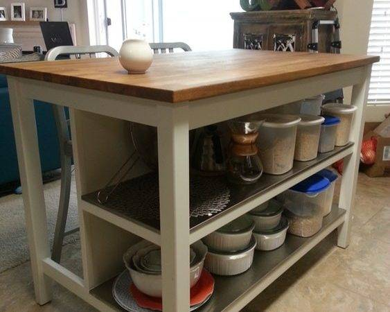 Ikea Stenstorp Kitchen Island Gorgeous Oak Top Los