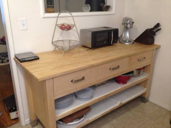 Ikea Varde Kitchen Island Butcher Block Nazarm