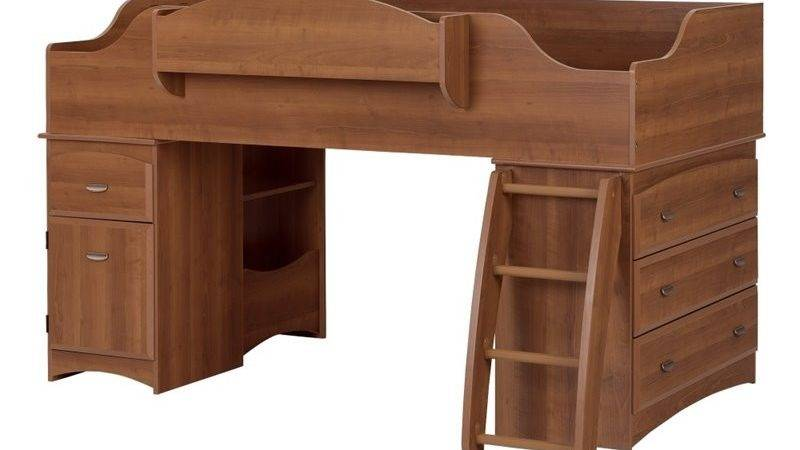Imagine Twin Wood Loft Bed Set Morgan Cherry