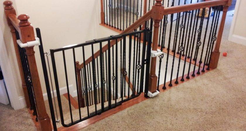 Impressive Baby Gates Stairs Drilling Gate