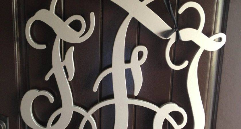 Inch Wooden Monogram Wall Letters Wedding Decor Home