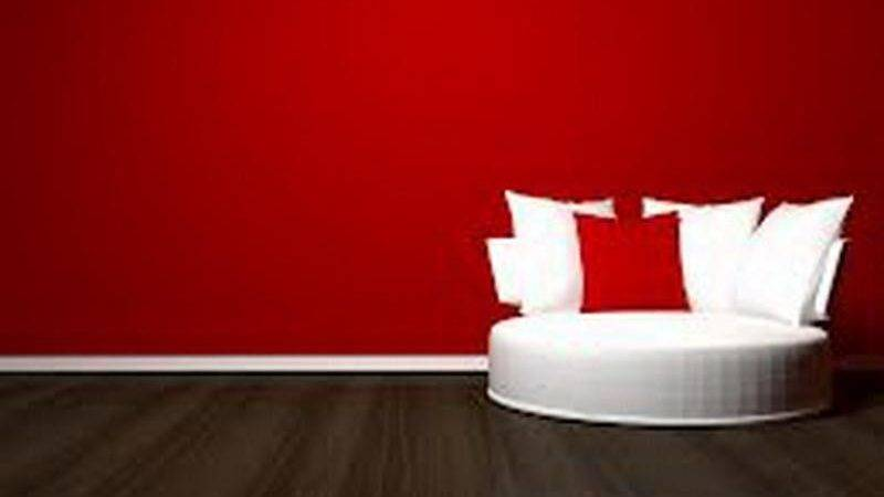 Indoor Different Shades Red Color Home Water