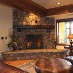 Indoor Electric Fireplace Faux Stone Surround