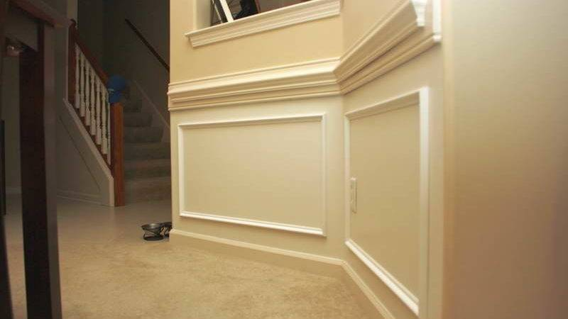 Indoor Faux Wainscoting Ideas Stairs