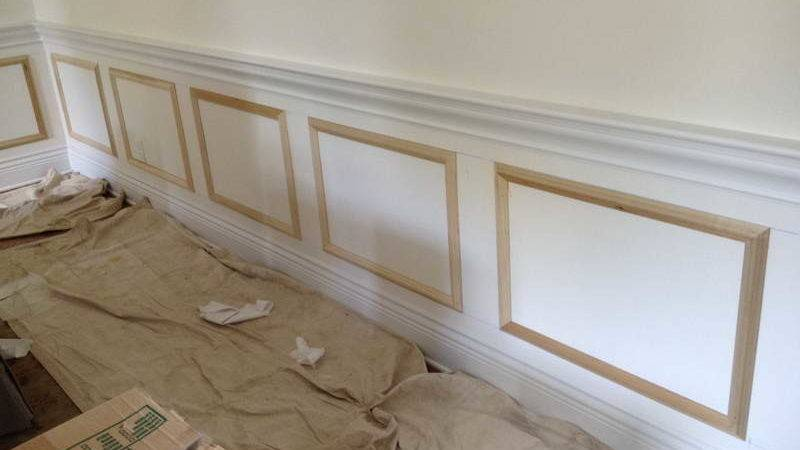Indoor Faux Wainscoting Ideas White Wall