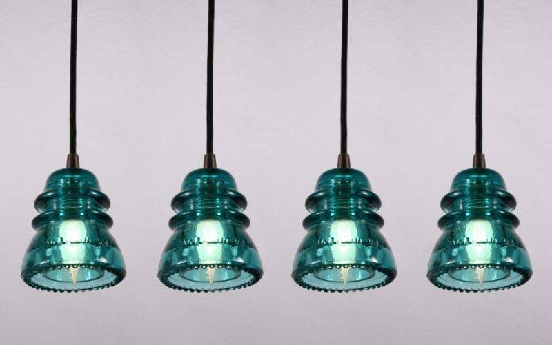 Industrial Pendant Lights Made Antique Glass