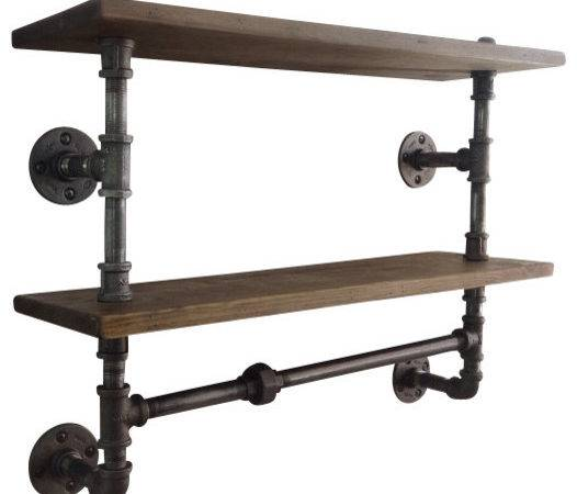 Industrial Pipe Double Shelf Display
