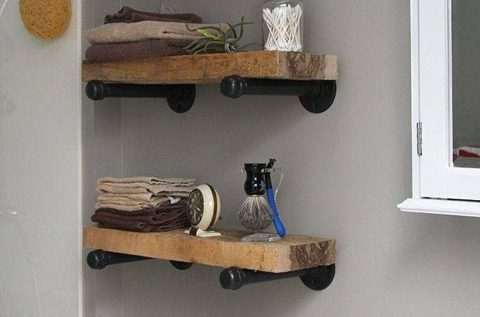 Industrial Pipe Shelving Home Design