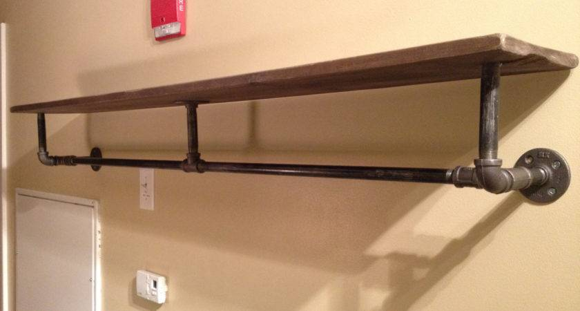Industrial Pipe Wood Shelving Thehastingsguide Etsy