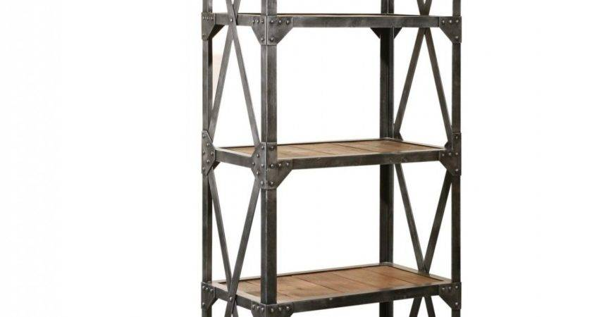 Industrial Reclaimed Narrow Bookcase Zin Home Salvaged