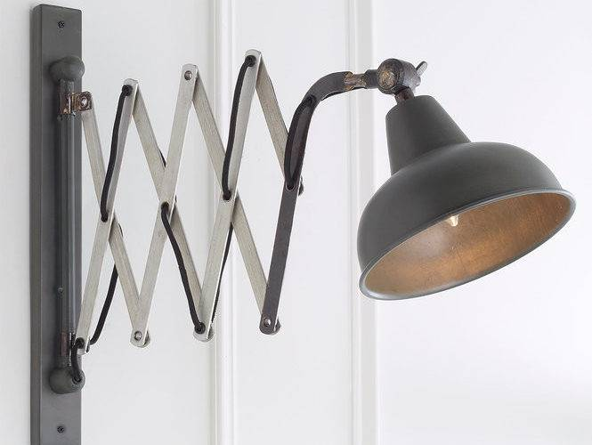 Industrial Scissor Accordion Wall Lamp Shades Light