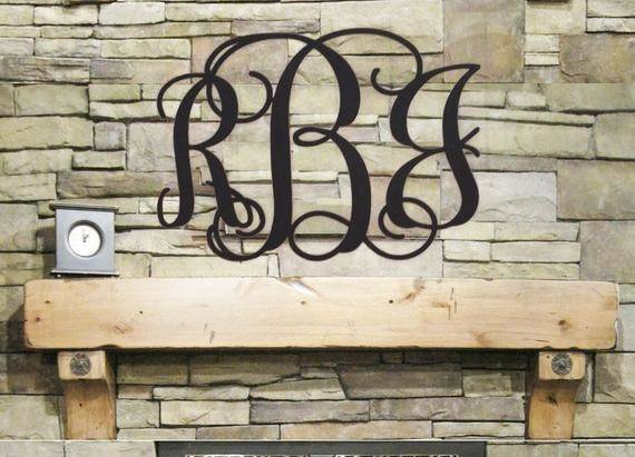 Initial Monogram Wall Decor Wooden Hanging