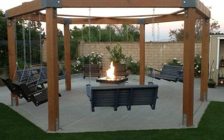 25 Dream Octagon Fire Pit Swing Photo - Gabe & Jenny Homes