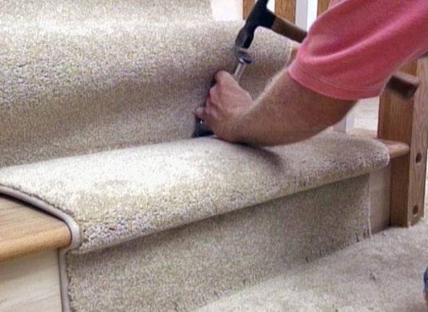 Install Carpet Tiles Stairs