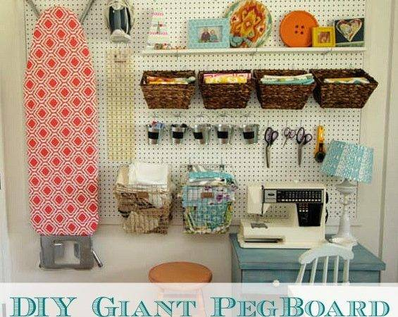 Install Diy Giant Pegboard Wall Craft Room