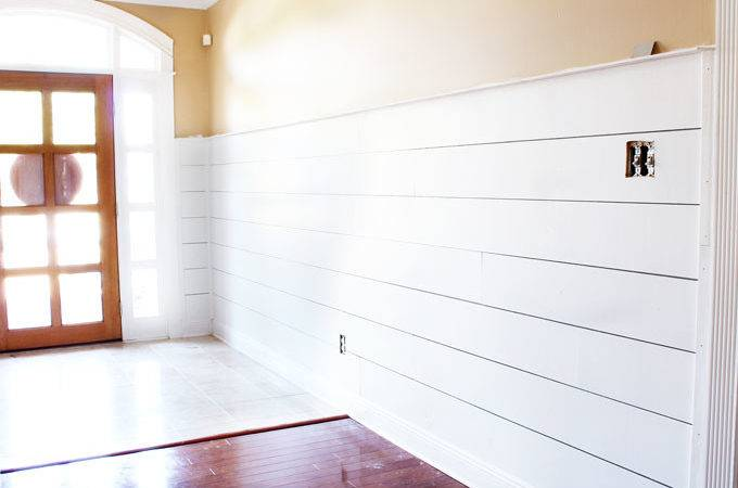 Install Diy Shiplap Easy Way Life Southpointe Drive
