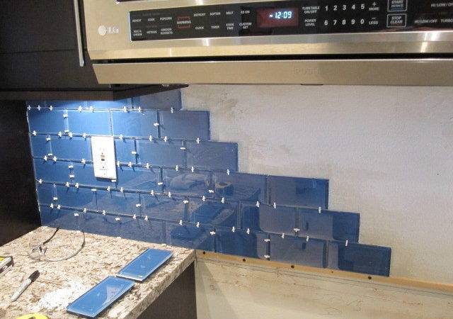 Install Glass Tile Backsplash Armchair Builder