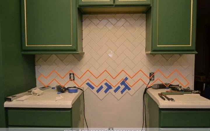 Install Herringbone Subway Tile Backsplash