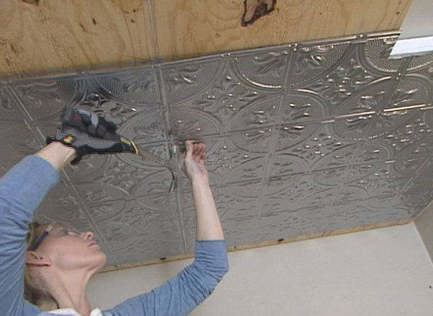 Install Stamped Tin Ceiling Tos Diy