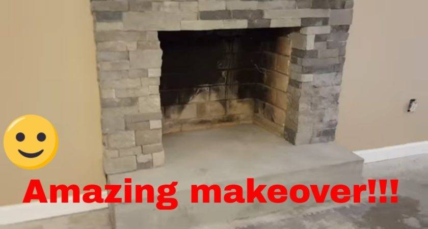 Installation Stone Veneer Airstone Around Fireplace