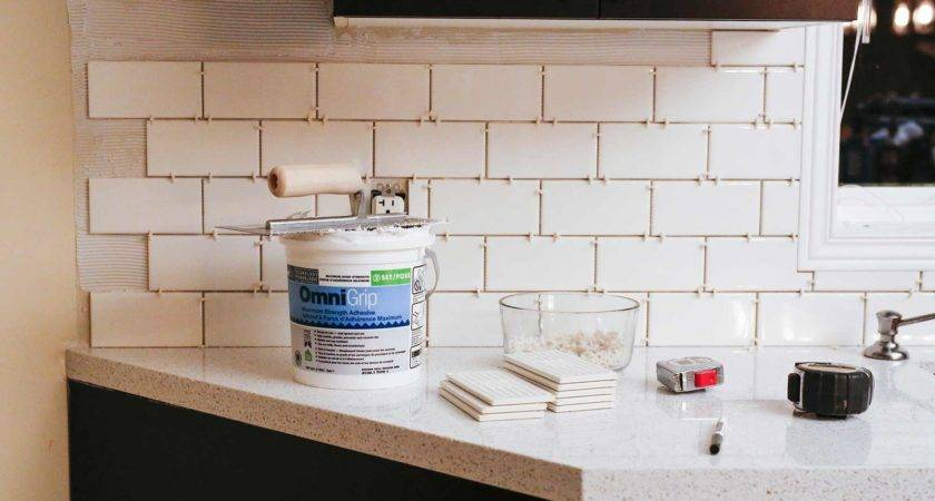 Installed Our Subway Tile Backsplash Brittany Stager