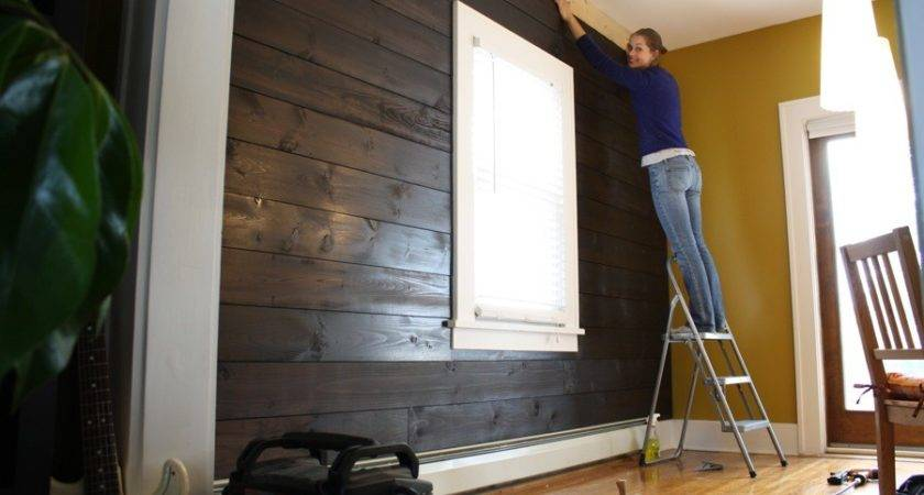 Installing Shiplap Our Dining Room Merrypad