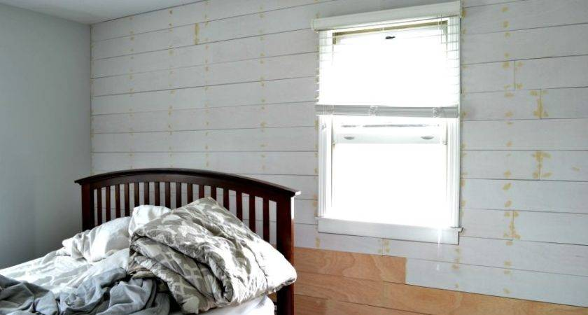 Installing Shiplap Plank Wall Budget Orc Week