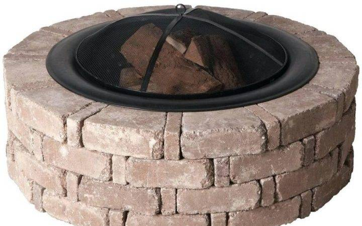 Interesting Fire Pit Rumble Stone Square