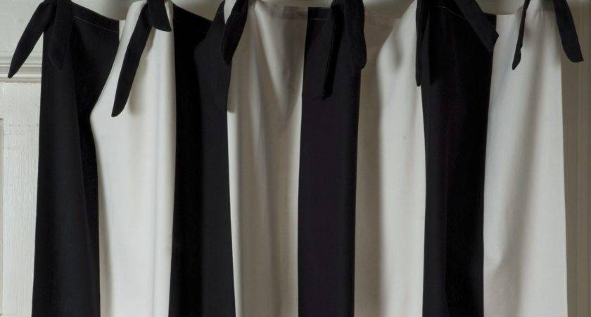 Interior Endearing Black White Striped Curtains