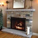 Interior Stone Wall Fireplace Prefab Fieldstone Fireplaces