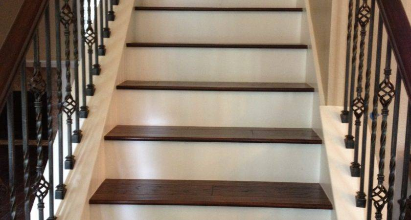 Iron Balusters Stairs Wood Treads