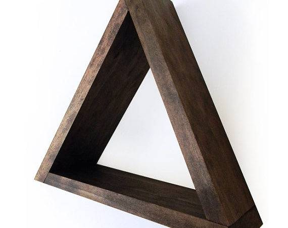 Items Similar Geometric Triangle Shelf Espresso