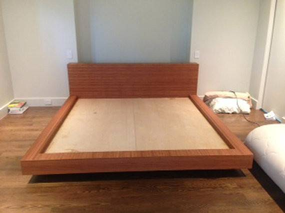 Items Similar King Bamboo Bed Frame Bench Etsy