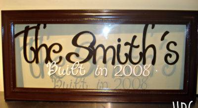 Items Similar Personalized Last Name Frame Glass Wall