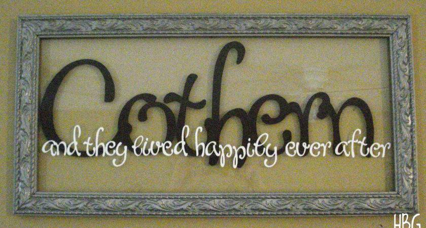 Items Similar Personalized Last Name Frame Wall Art