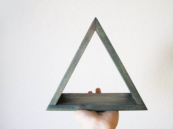 Items Similar Triangle Wall Shelf Single Shadowbox