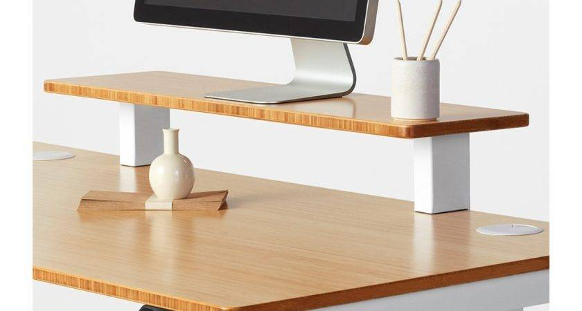 Jarvis Desk Shelf Raise Monitor Meet Your Aesthetic