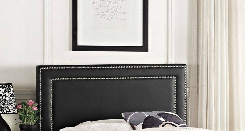 Jessamine Twin Vinyl Square Headboard Double Nailhead